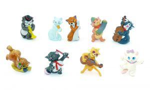Figurensatz von Walt Disney Aristocats von 1989 (Komplettsätze)