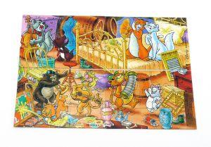Komplettpuzzle der Aristocats mit allen 4 Ecken (60 Teile Puzzle)