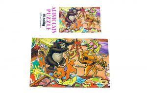 Puzzleecke der Aristocats unten links mit Beipackzettel (15 Teile Puzzle)