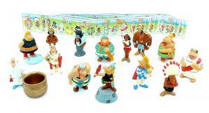 Alle 14 Figuren von Asterix in Amerika und alle 4 Beipackzettel