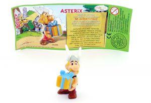 Asterix mit Geschenk in den Armen (Asterix Geburtstag)