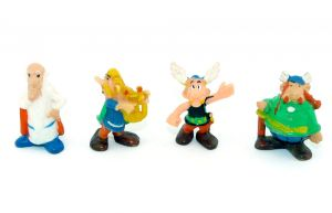 Satz Asterix mit: Majestix - Troubadix und Miraculix (Alte Ü-Eier Figuren)