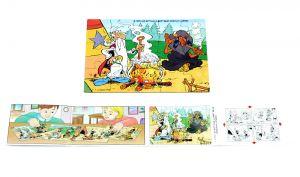 Puzzleecke Asterix in Amerika mit Beipackzettel original (Ecke oben links)