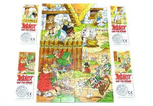 Asterix und die Römer, alle 4 Puzzle + Beipackzettel (Superpuzzle)