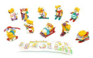 Ski Bunnies Figurensatz mit Zubehör und Beipackzettel (Sätze Ausland)