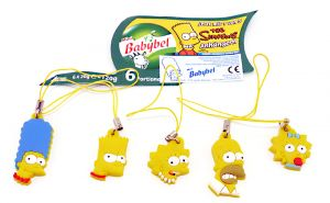 Figurenset Simpsons 5 Anhänger (Firma Babybel)