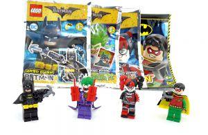 4er Set LEGO BATMAN. Joker - Harley Quinn - Robin  und Batman