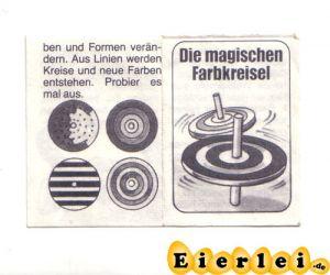 Zettel von dem magischen Farbkreisel (Alte Ü-Ei Inhalte)