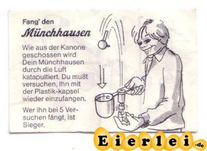 """BPZ von """"Fang´den Münchhausen"""" von 1984 (Alte Ü-Ei Inhalte"""