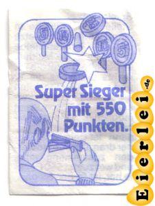 Super Sieger mit 500 Punkten Zettel (Alte Ü-Ei Inhalte)