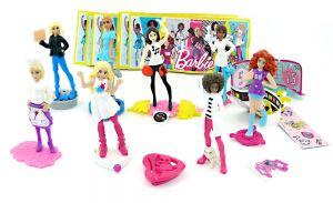 """Figurensatz von """"Die Barbie Traumberufe"""" mit allen an Zubehör und Zetteln (8 Figuren)"""