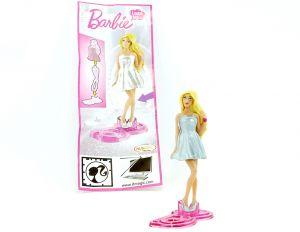 Ü Ei Barbie Sonderfigur im silbernen Kleid mit Beipackzettel