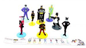 8 Figuren von BATMAN mit Beipackzettel (SALATI PREZIOSI)