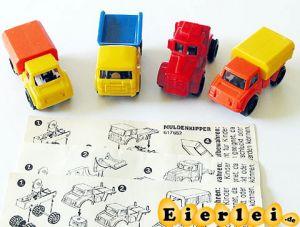 Baustellenfahrzeuge mit Beipackzettel und Variante (Autos)