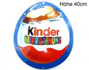 Retro - Eiförmiges Blechschild vom Kinder Überraschungsei. Höhe 40cm und in Top Zustand