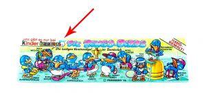 """Nur das halbe """"Milch + Kakao"""" Logo auf Beipackzettel der Bingo Birds (Druckfehler)"""