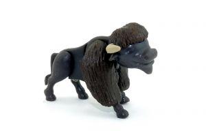 Bison mit dunklem Fell (Steck  -Tiere aus dem Überraschungsei)