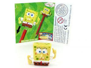 Spongebob Schwammkopf als Stiftaufsatz mit Beipackzettel