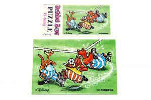 Puzzleecke der Dribbel Boys unten rechts mit Beipackzettel (Ü-Ei Puzzle)