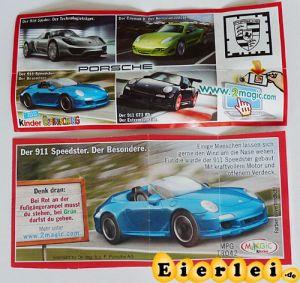 Der 911 Speedster - Porsche (Beipackzettel)