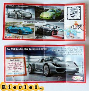 Der 918 Spyder - Porsche (Beipackzettel)