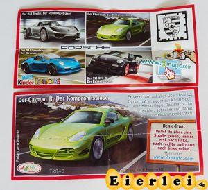 Der Cayman E. - Porsche (Beipackzettel)