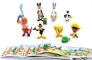 Looney Tunes Steckfiguren von 1996  mit allen Beipackzetteln (Sätze Europa)