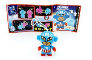 Captain America mit Beipackzettel (Marvel Twistheads)