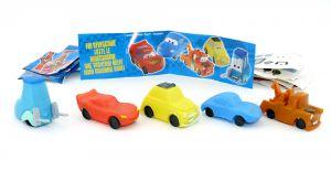 Disney Cars von Firma Bauli. Alle 5 Modelle, Zettel und Aufkleber