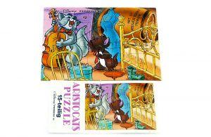Puzzlecke Aristocats oben Links mit Beipackzettel (15 Teile Puzzle)