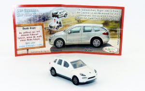 Weißer Porsche Cayenne (Porsche Serie 2011)