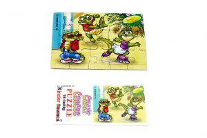 Puzzleecke mit Beipackzettel von den Crazy Crocos unten links