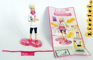 Chefköchin mit Beipackzettel aus der Serie Barbie I CAN BE