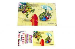 Puzzleecke von den Crazy Crocos unten rechts mit Beipackzettel