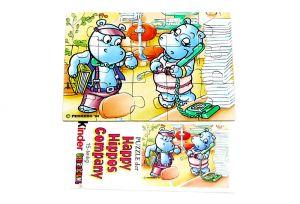 Happy Hippo Company Puzzleecke unten links mit Beipackzettel