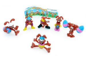 6 Cool Bunnies in rot von 2004 mit Beipackzettel [Firma Meistermarken]