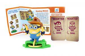 Cowboy - Minion mit Zettel EN550 (Die Minions auf Reisen)
