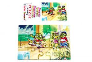 Puzzleecke von den Crazy Crocos oben links mit Beipackzettel