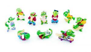 Alle 10 Figuren der Crazy Crocos von 1993 (Komplettsätze)