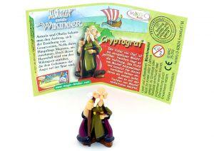 Cryptograf mit Beipackzettel (Asterix und die Wikinger)
