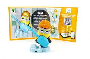 DAVE Figur (SD744) mit Beipackzettel von den Minions 3