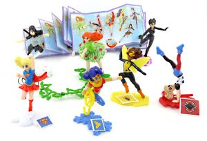DC Super Hero Girls als Figurensatz mit neutralen Zetteln