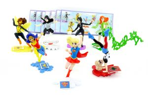 Figurensatz von den DC Super Hero Girls mit allen Zubehör