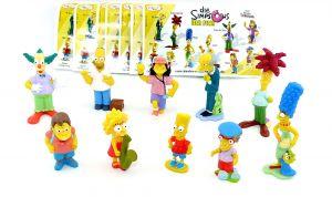 Satz Die Simpsons Figuren mit 10 deutschen Beipackzetteln (Komplettsatz)