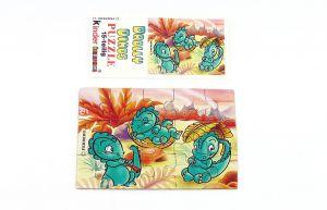 Drolly Dinos Puzzleecke oben links mit Beipackzettel