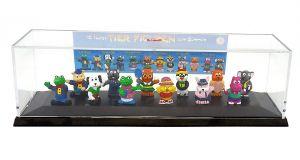 Diorama der 12 lustigen Tier Figuren zum Sammeln. Litschka Toys und das Diorama ist von HERPA