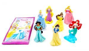 Disney Prinzessinnen Satz mit 7 Prinzessinnen und alle Beipackzettel (EU Satz)