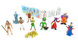 10 Disney HEROS Figurensatz mit Beipackzettel von Zaini