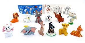 Tierfiguren Set von Disney ANIMAL Friends. Alle 12 Figuren mit einem Beipackzettel [Firma Zaini]