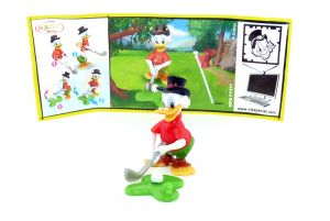 Dagobert Duck mit neutralen Beipackzettel Micky Maus & Freunde